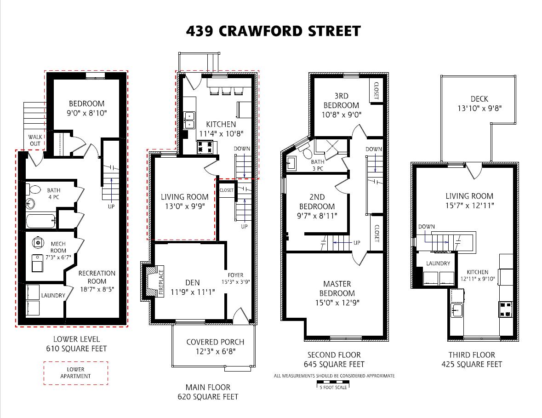 439 Crawford Street Floor Plan