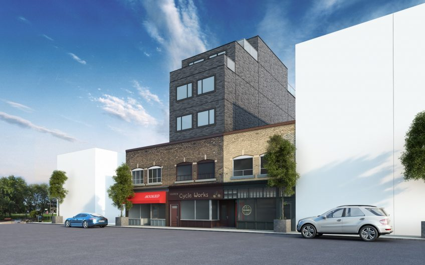 890 Queen Street East Exterior Front Rendering